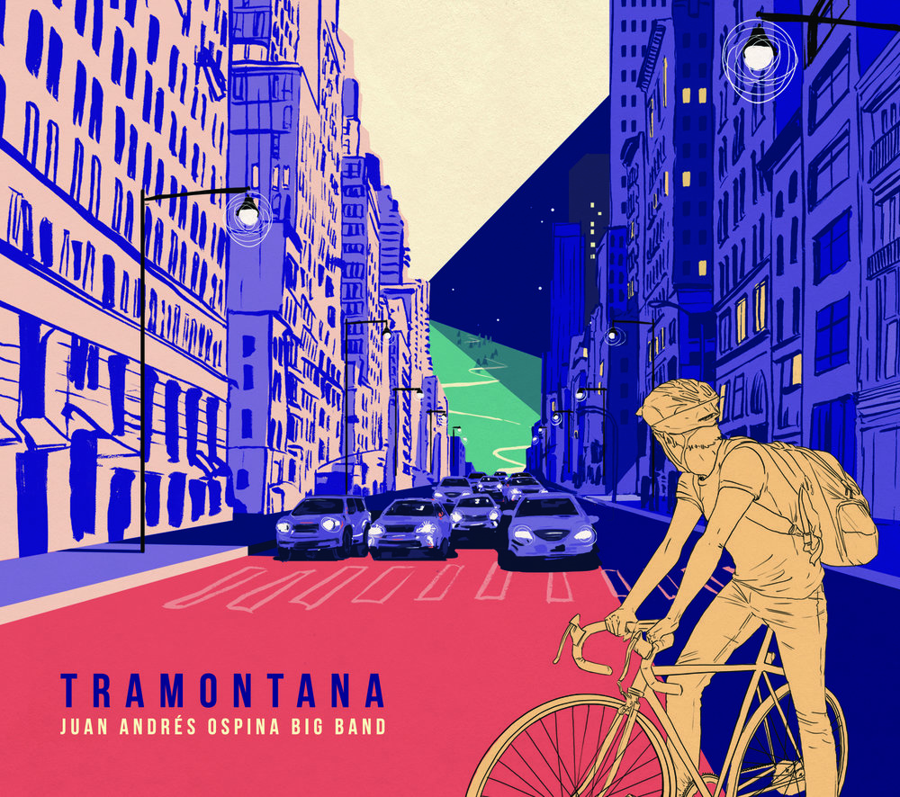 Tramonta (2018, recorded 2017) by Juan Andrés Ospina Big Band