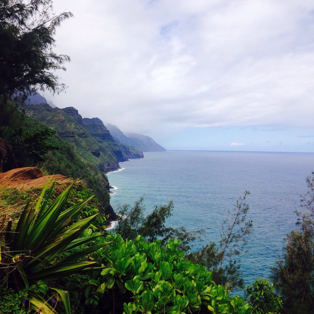 The Napali Coast.