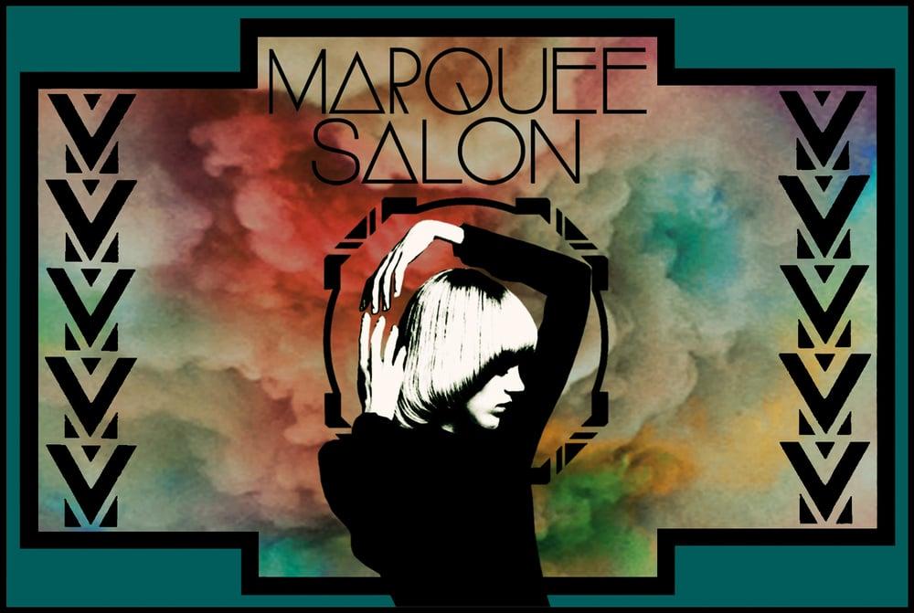 STARCADE DESIGNS FOR MARQUEE SALON / EVENT POSTCARD /©MARQUEE SALON    .