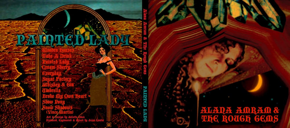 STARCADE DESIGNS FOR ALANA AMRAM & THE ROUGH GEMS / CD DESIGN, FRONT & BACK / ©ALANA AMRAM     .