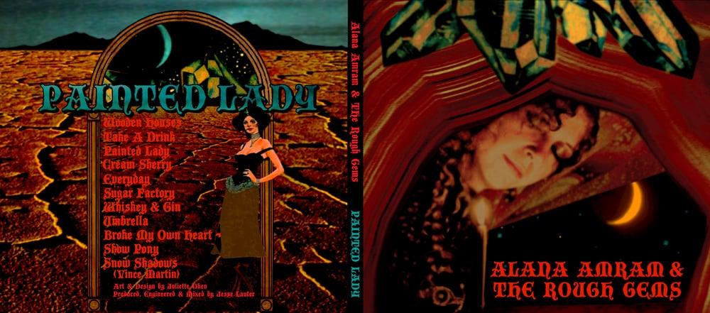 STARCADE DESIGNS FOR ALANA AMRAM & THE ROUGH GEMS / CD DESIGN, FRONT & BACK /©ALANA AMRAM    .