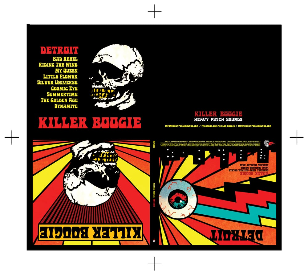 DESIGN AND LAYOUT FOR PRINT FOR KILLER BOOKIE / HEAVY PSYCH SOUNDS RECORDS / ©HEAVY PSYCH SOUNDS 2016