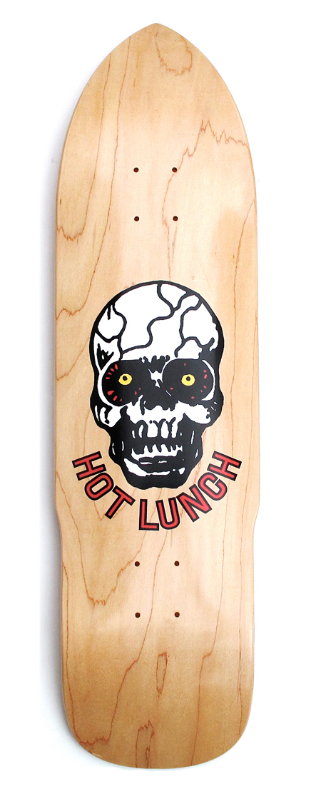 STARCADE DESIGNS SKATEBOARD DESIGN FOR HOT LUNCH