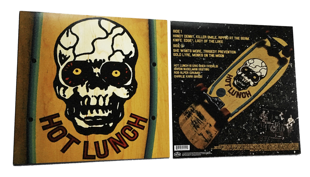 DESIGNS AND LAYOUT FOR PRINT FOR HOT LUNCH LP / WHO CAN YOU TRUST RECORDS / ©HOT LUNCH