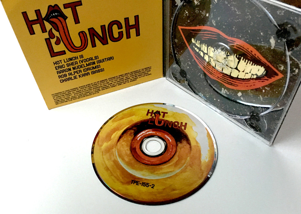DESIGN AND LAYOUT FOR PRINT FOR HOT LUNCH CD / TEEPEE RECORDS / ©HOT LUNCH  .