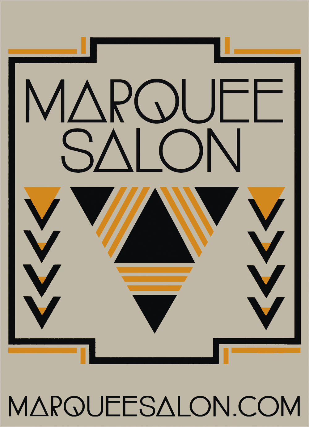 STARCADE DESIGNS FOR MARQUEE SALON / SIGNAGE DESIGN FOR COPPER LEAF APPLICATION / ©MARQUEE SALON