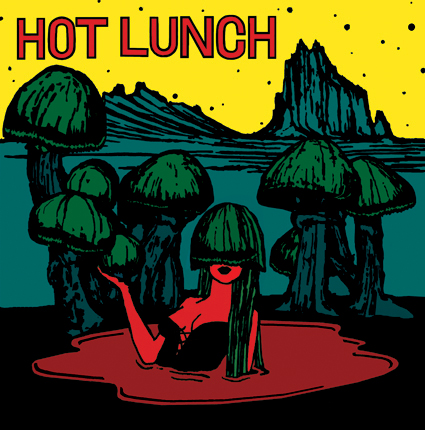 STARCADE DESIGNS FOR HOT LUNCH, ILLUSTRATION FOR TYM RECORDS 45 / ©HOT LUNCH
