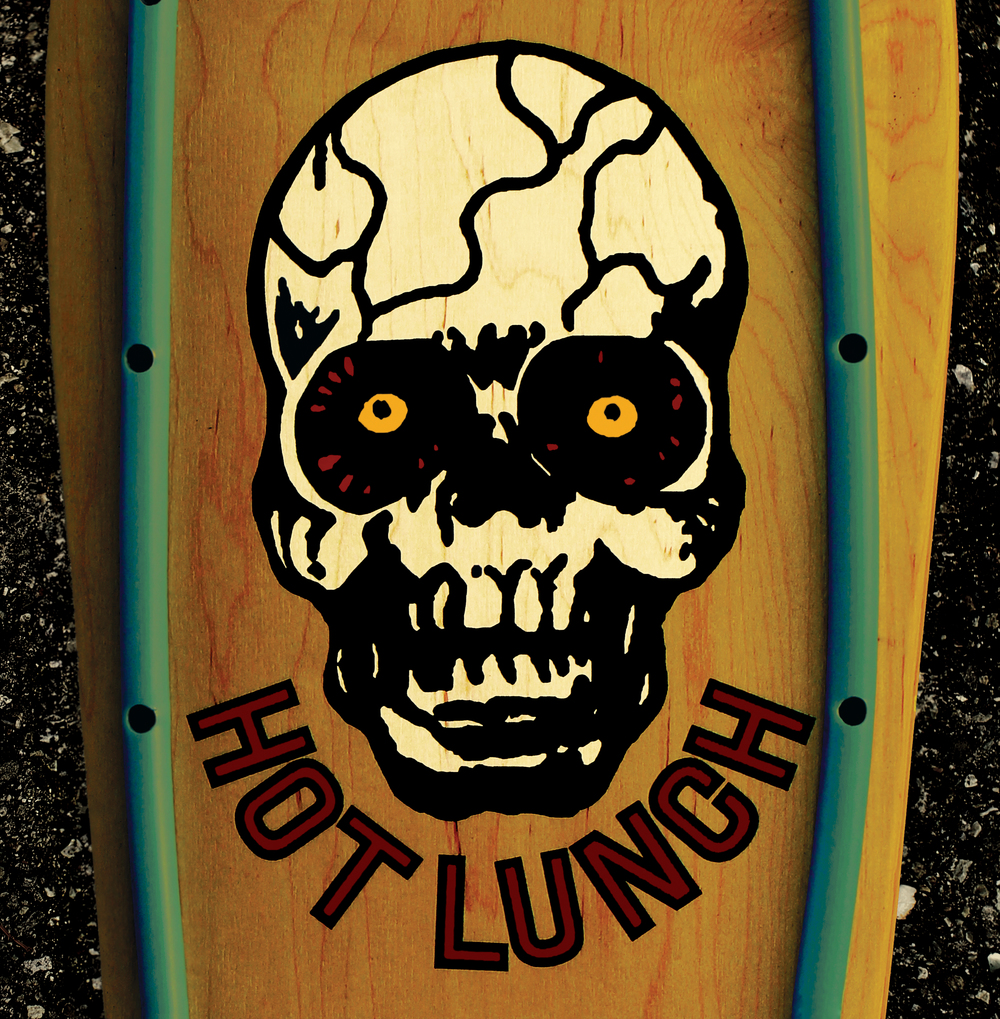 STARCADE DESIGNS FOR HOT LUNCH / LOGO DESIGN, LP FRONT COVER / ©HOT LUNCH