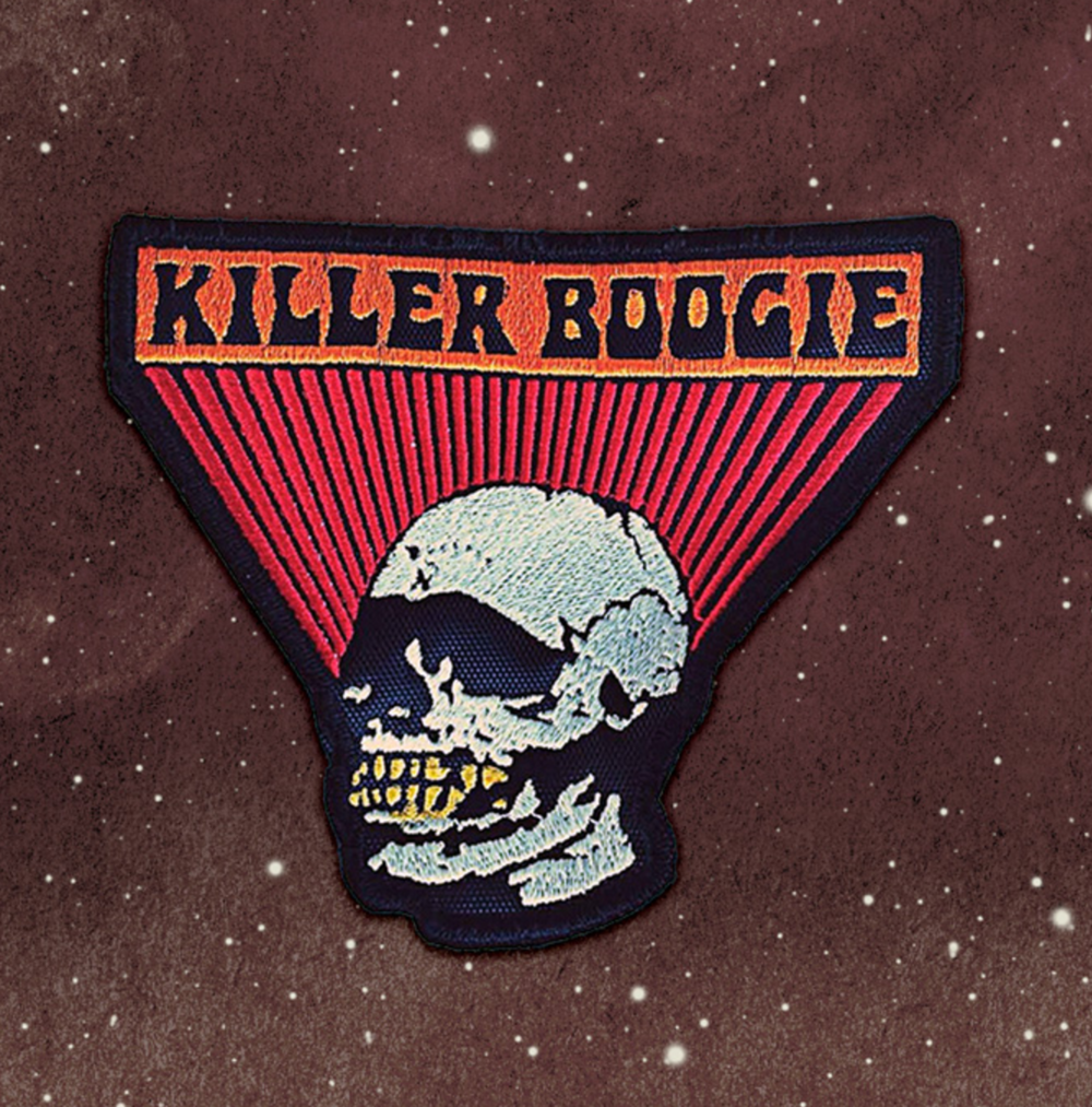 DESIGN FOR KILLER BOOGIE / USED FOR EMBROIDERED PATCH / ©KILLER BOOGIE        .