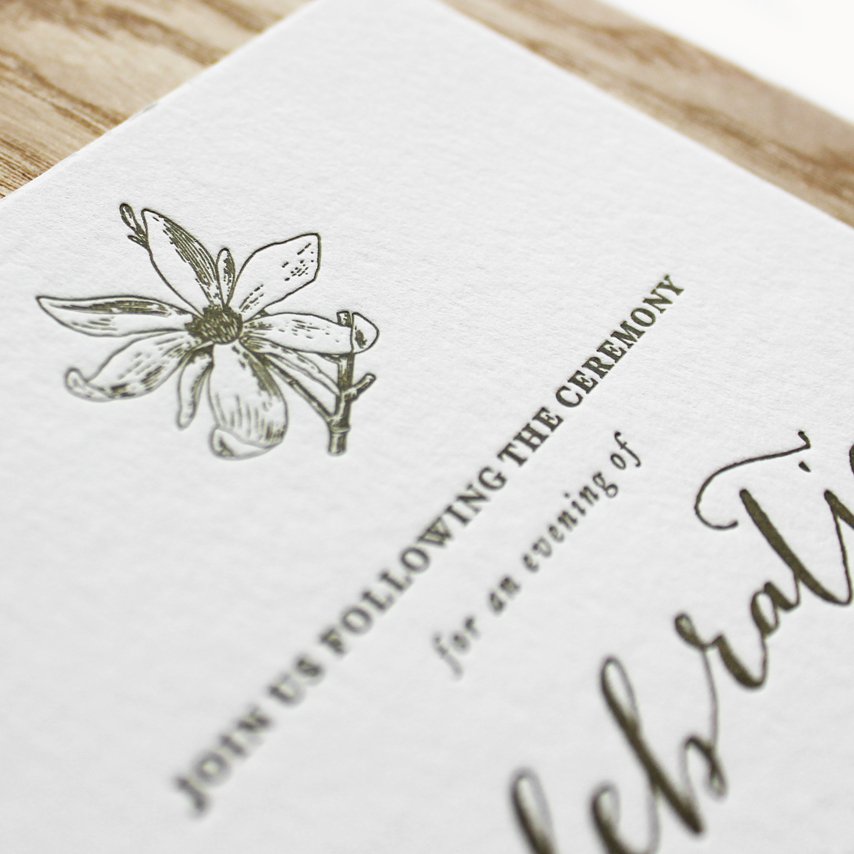 cotton paper + letterpress printing