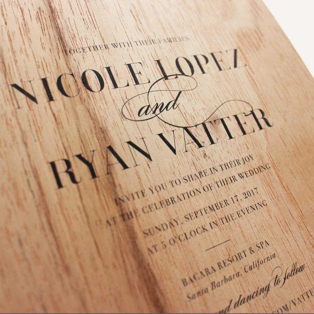 special order cedar wood + flat printing