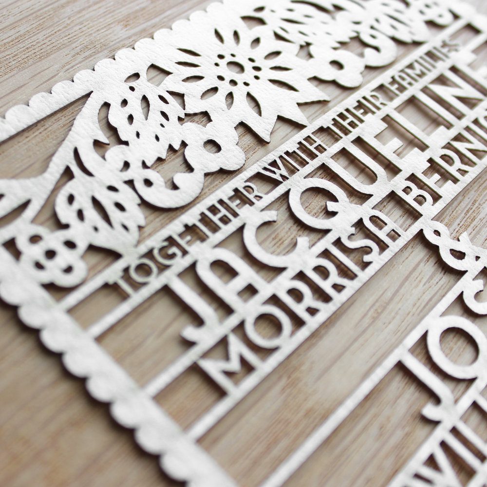 laser-cut metallic paper