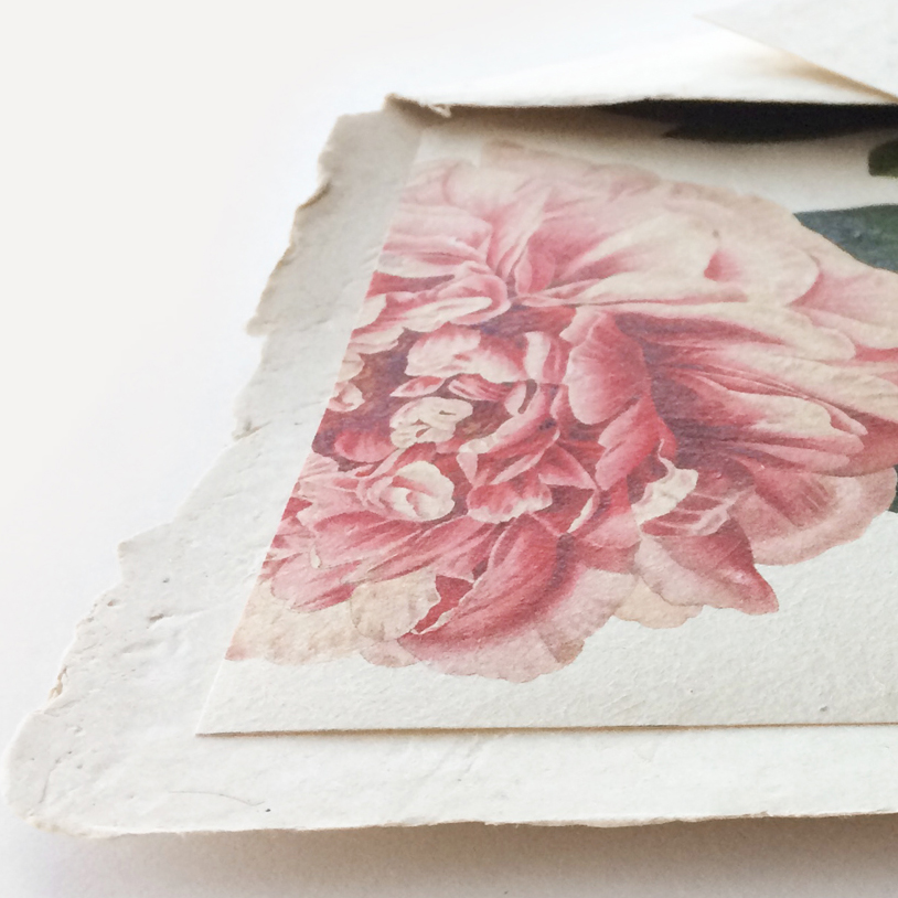 handmade paper envelopes with deckled edge