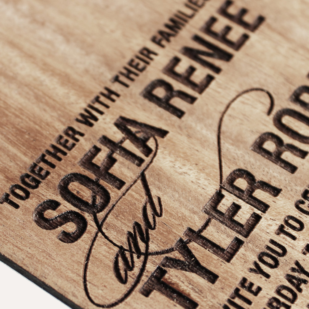 special order mahogany wood + laser engraved