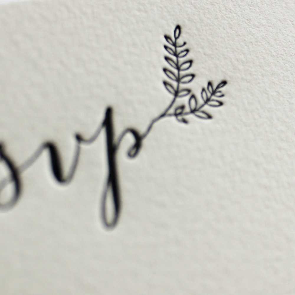 special order cotton rag paper + letterpress printing