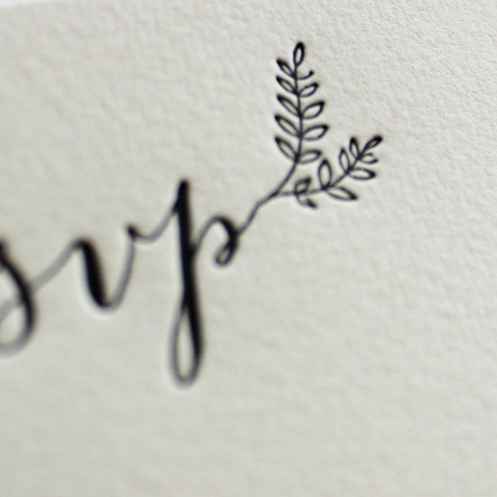special order cotton rag paper + letterpress printing