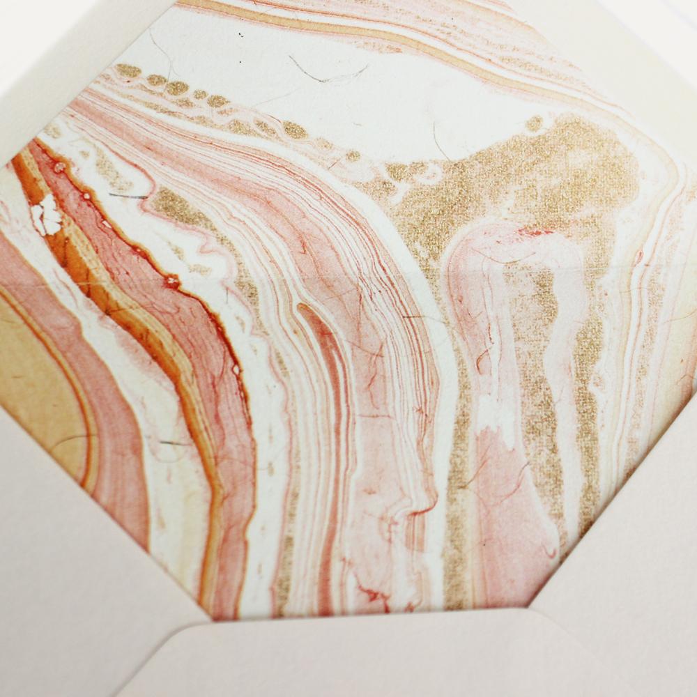 marbled paper envelope liner