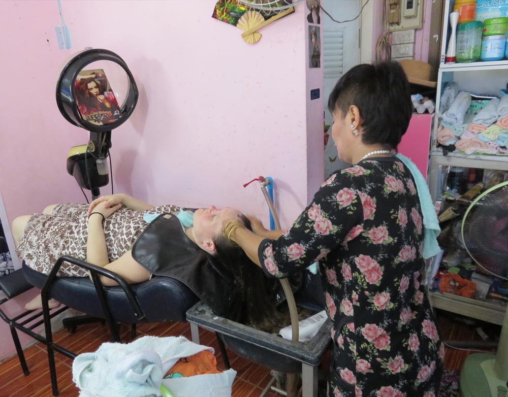 Nun's beauty salon