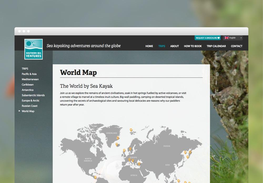 SSV world map