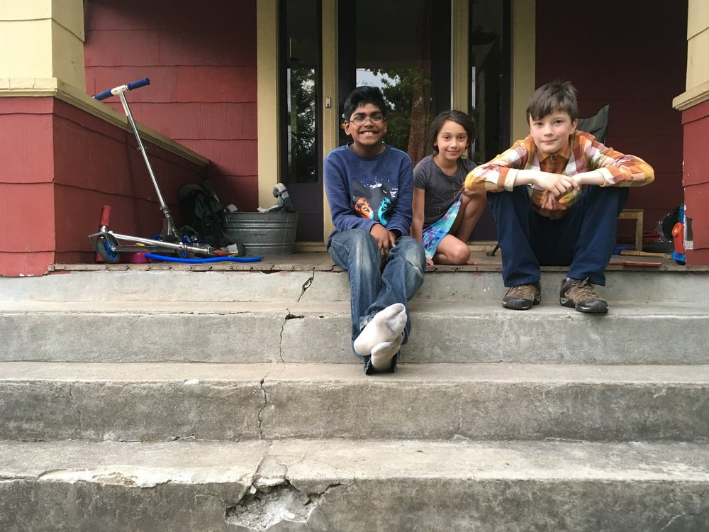 The editorial board of the Oak Street Reporter — (from left) Anmol Patel, Sita Niemann, and Cian McKeown.