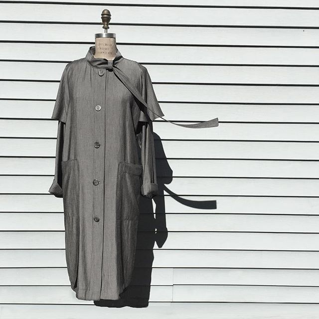 About a coat: ready to fly. . . #photography #texture #madeinbrooklyn #designermaker #nyfw #greycoat
