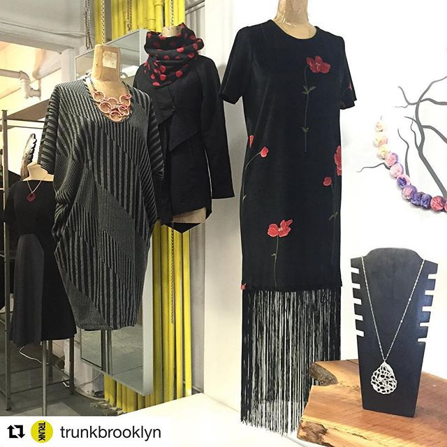 Velvet+Roses+Fringes=party time! New styles  @trunkbrooklyn . . #madeinbrooklyn #design #designermaker #madeinusa #velvet #dress #party