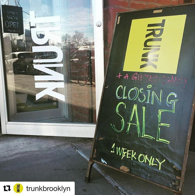Last chance.. big sale. Thank you @trunkbrooklyn for wonderful few years🙏🏼❤️