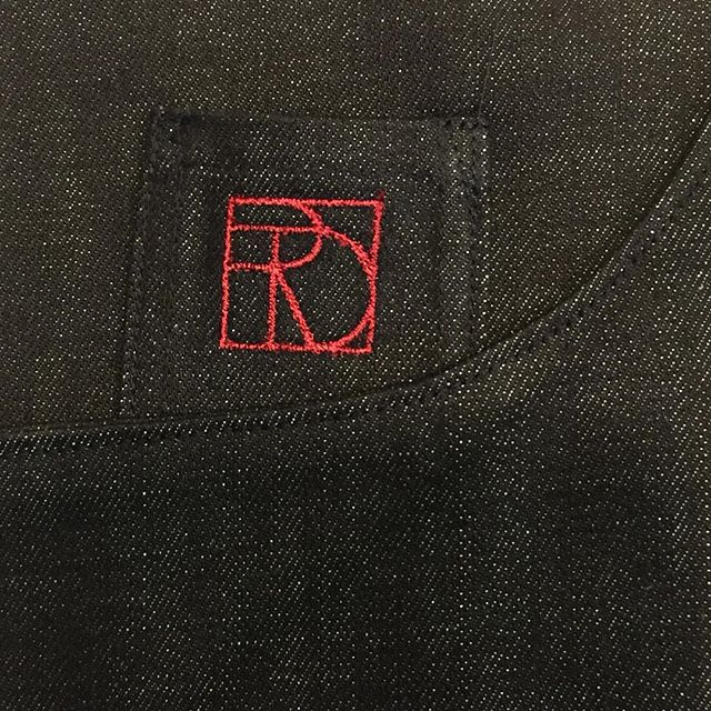 PURE (Detail) Vain Red on Indigo. . . #couture #denim #handmade #expensive #madeinbrooklyn #pure #designermaker #originalartwork #oneofakind #therationaldress #myprocess