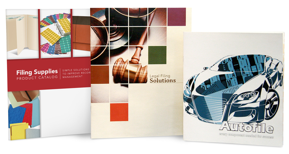 IFS Filing Systems Full product catalogs for specific lines and main categories - cover and layout design, product art