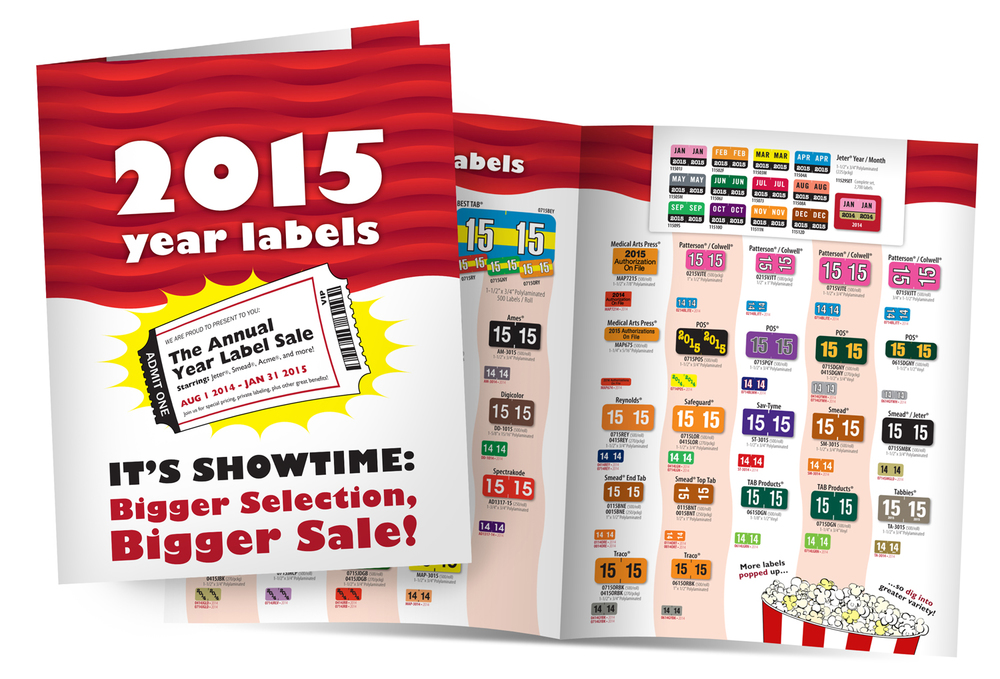 IFS Filing Systems Annual year label sale material -  full design and illustration