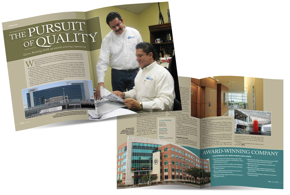 Northbrook Publishing Layout design for Sherwin-Williams publication contractor story