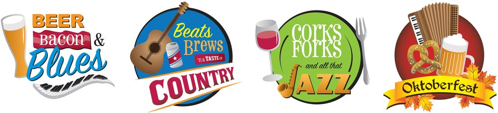 City of Greenfield  Logos for a series of local music and food festivals