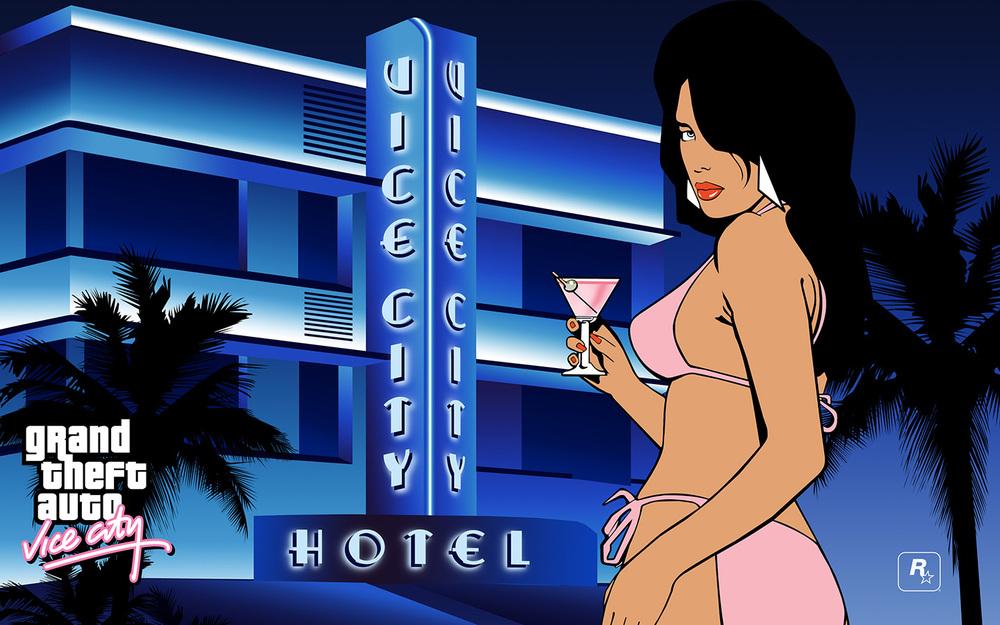 Grand Theft Auto Vice City Martini Girl Wallpaper