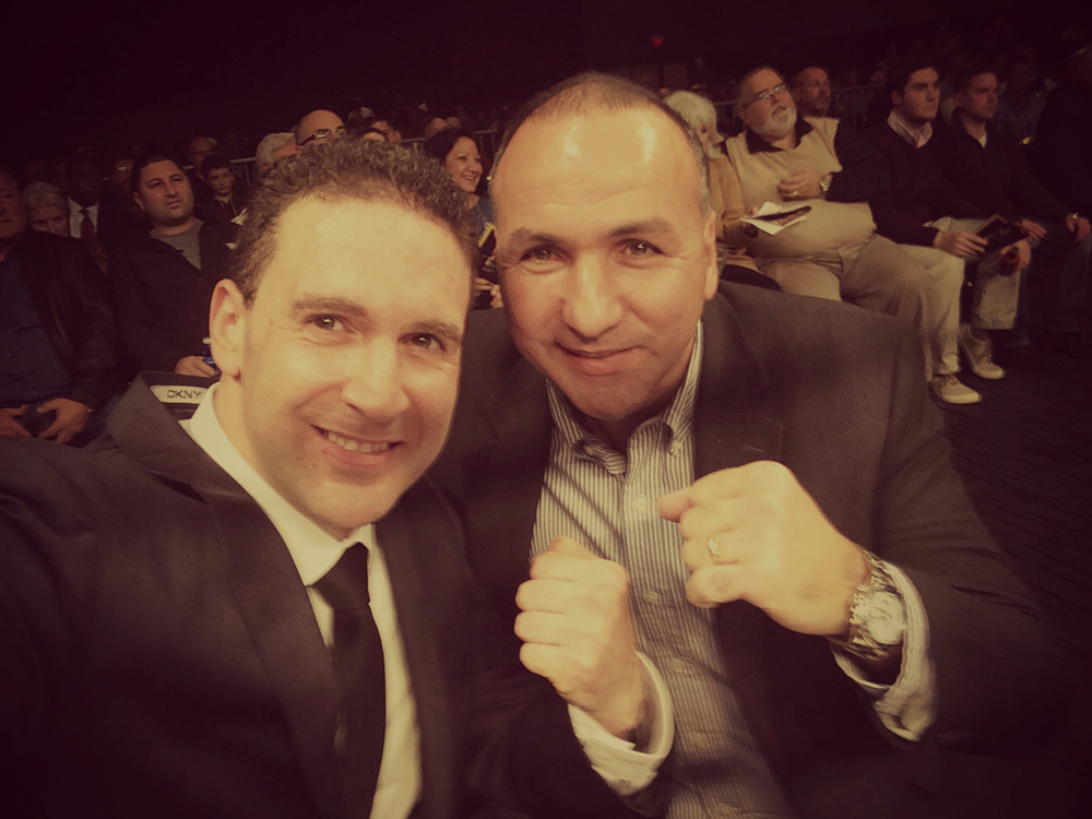 Executive Producer of In This Corner &Ring Announcer Steve Mittman andFormer Super Middleweight ChampionDaveTiberi