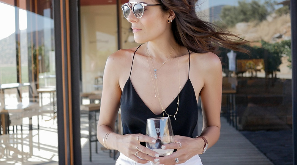 Wearing:  Necklaces and Rings by  Simply Kasia   //   J.Crew Cami     Image by:   Audrey Alba Films