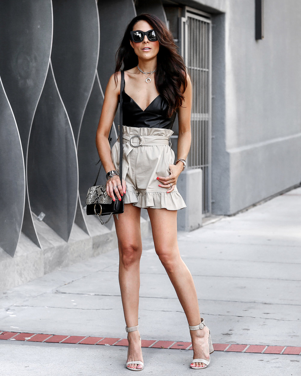 Cinq_E_Sept_Ruffle_Shorts_Express_Leather_Crop_Top_Chloe_Faye_Bag.jpg