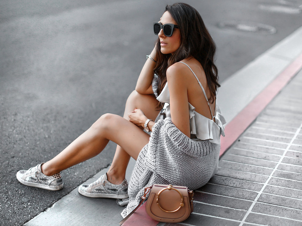 MLM Label Ruffle Dress_I_Love_Mister_Mittens_KImono_Sweater_Dolce_Vita_Sneakers_Chloe_Nile_Bag.jpg