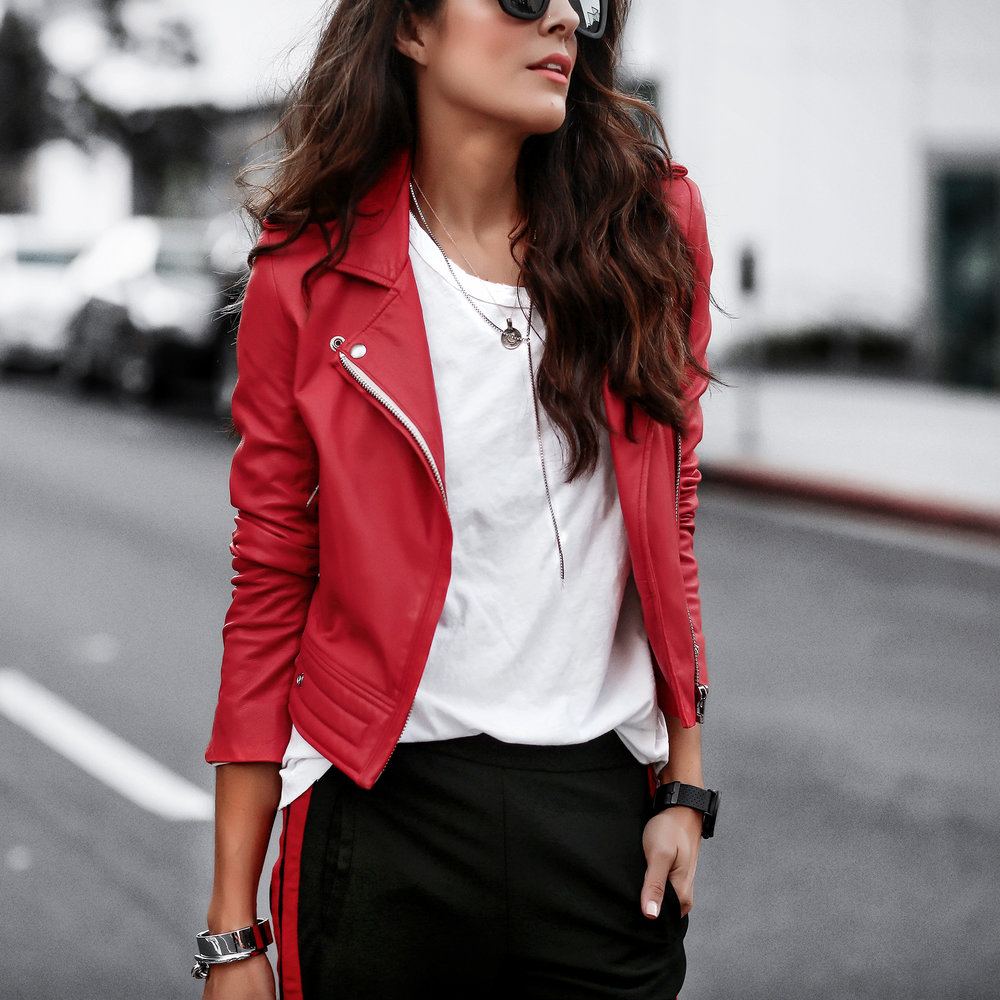 IRO REd LEather JAcket Streetstyle.jpg