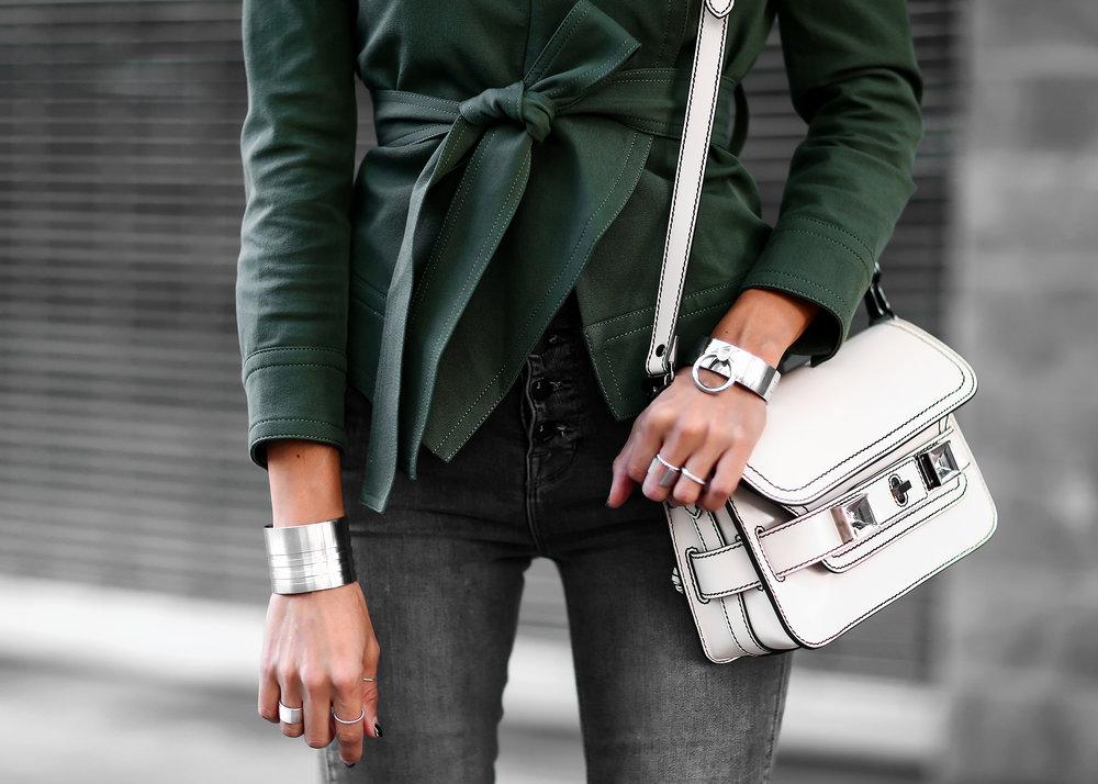 Silver Chunky Jewelry Derek Lam Jacket Proenza Schouler Bag .jpg