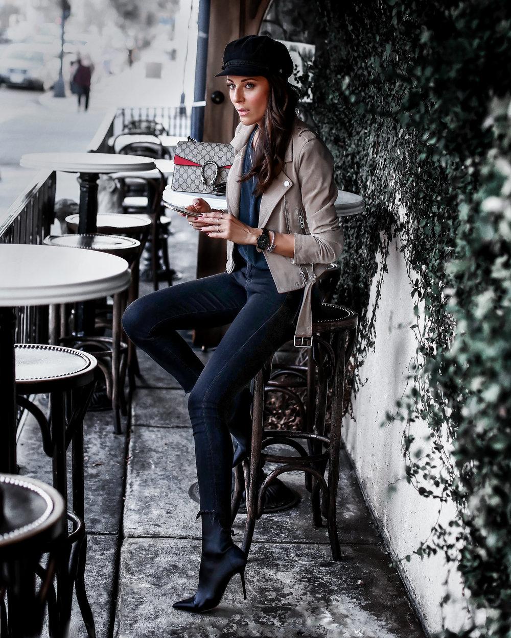 Blank NNYC Suede Jacket Black Skinny Jeans Tony Bianco Sock Boots.jpg
