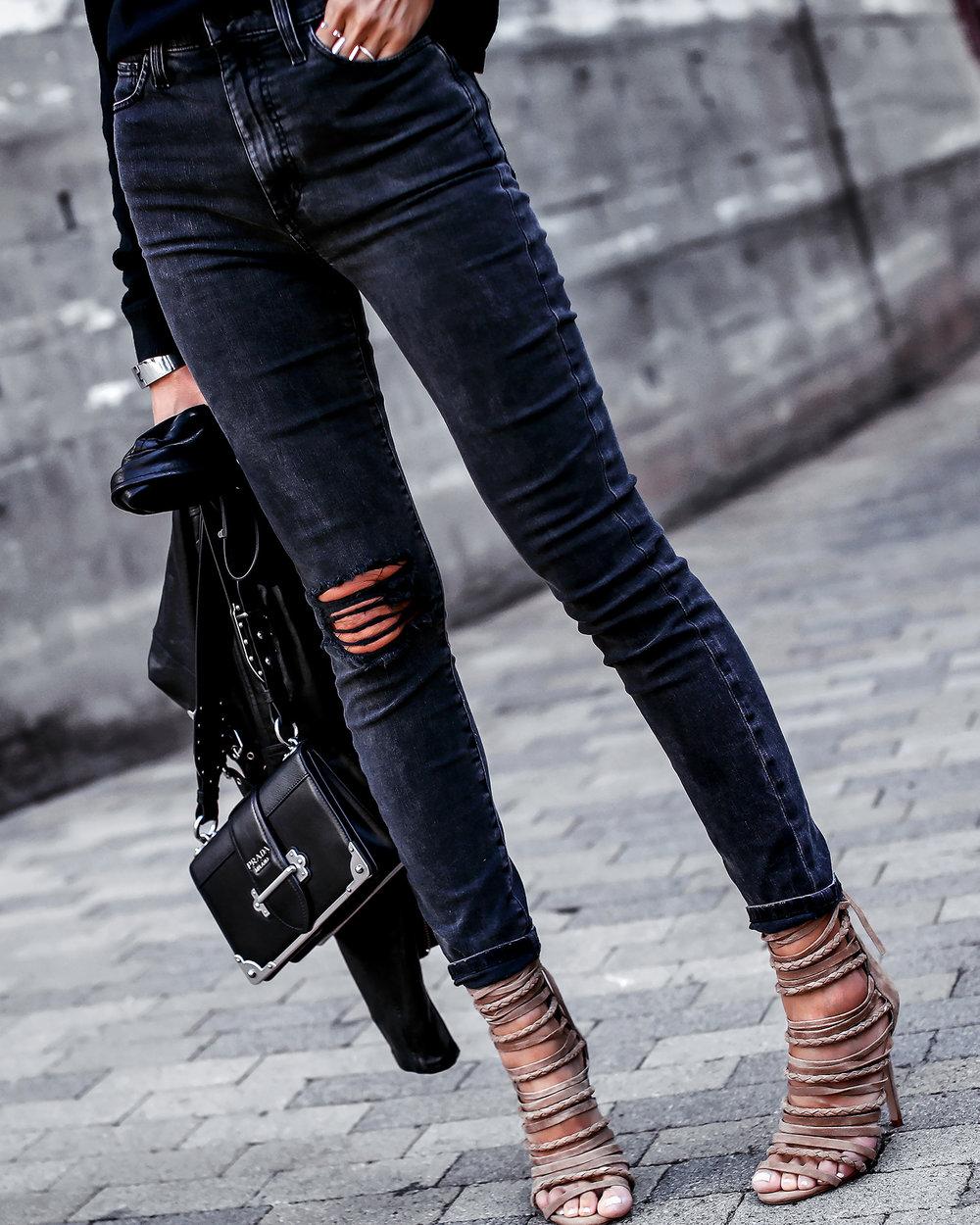 Joes Jeans Acid Wash Denim Steve Madden Wrap Sandals Prada Bag Detail Shot.jpg