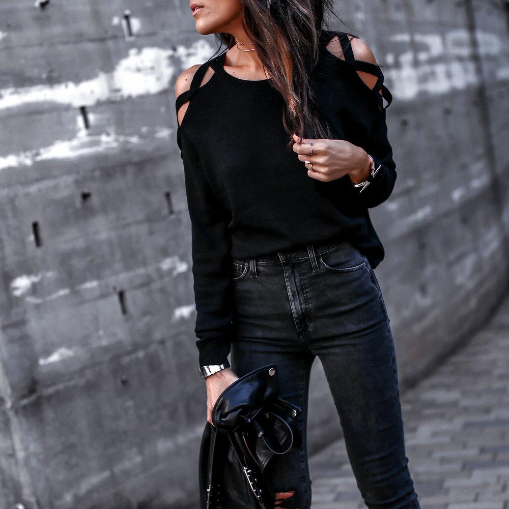 Joes Jeans Denim Cutout Knit Fashion Blogger.jpg