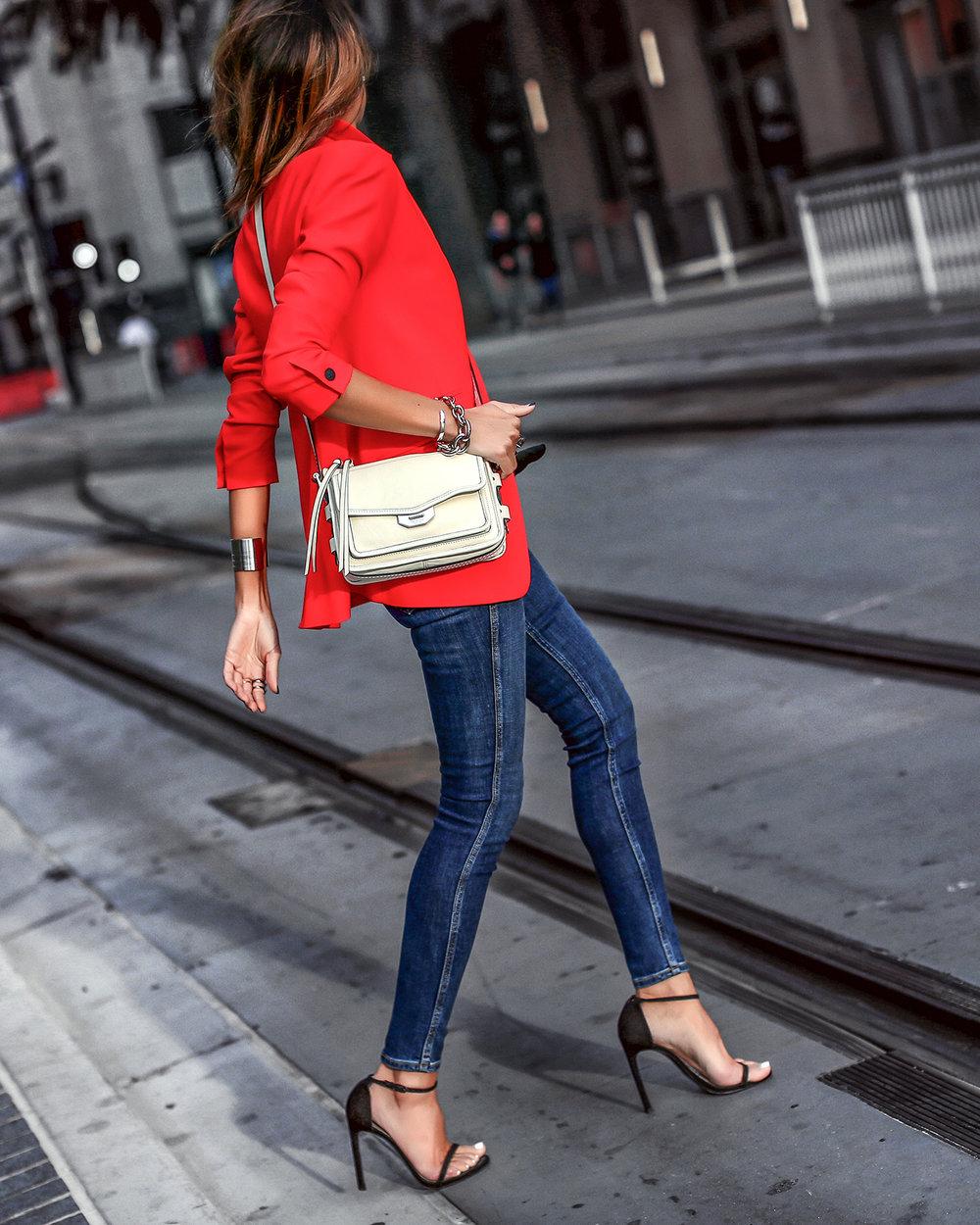 Rag and Bone Denim Red BLazer Streetstyle Spring Style.jpg
