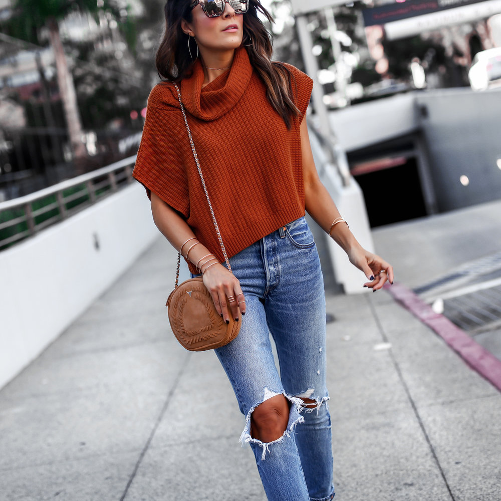 Free People Rust Knit Levis 501 Jeans Streetstyle San Diego Fashion Blogger.jpg
