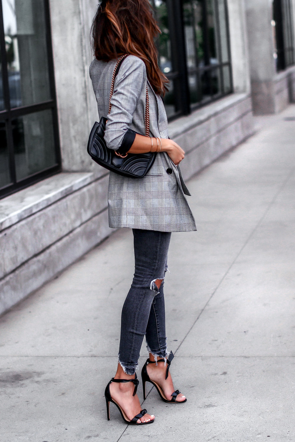 Plaid Blaze Cami NYC Ripped Denim Streetstyle Blogger Lucys Whims Gucci Bag.jpg