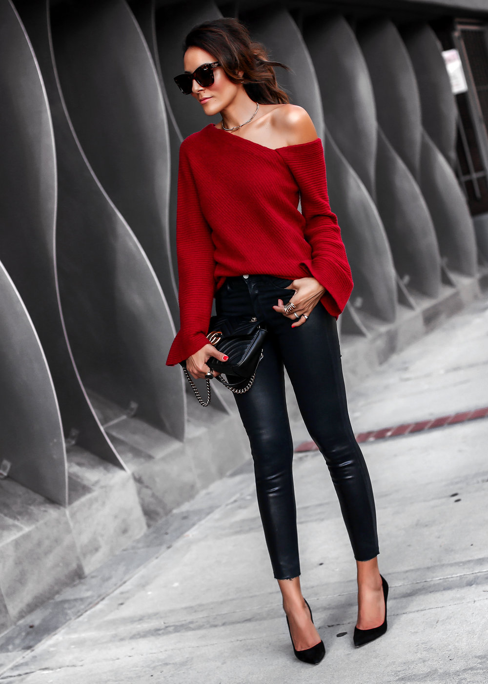 ALC Asymmetric Cashmere Sweater L'Agence Skinny jeans Gucci Bag Nordstrom Anniversary Sale.jpg