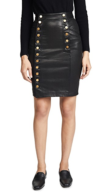 Marissa Webb Pencil Leather Skirt
