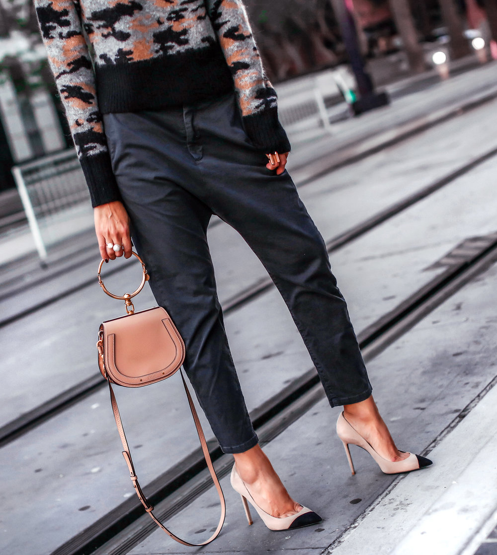 Woman in Pants and Pumps