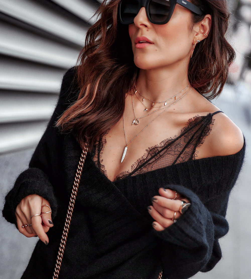 Details Picture of Brunette Woman Wearing Missoma London Jewelry