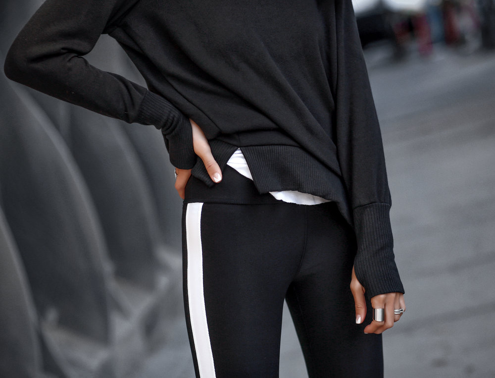 Woman in Affordable Athletic Wear Workout Leggings